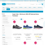 ASICS Shoes Fr $36 (Was $120), GT1000 $48 (Was $160) + Free Shipping with $100 Spend (<3kg) @ Sportsmans Warehouse