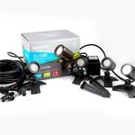 Elluminate Warm White Garden Spot Light Kit (Includes 4x Spotlights) $70 (Was $216), Steel Deck Light Kit $99 @ Bunnings