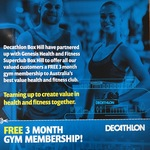 [VIC] Free 3 Month Gym Membership with any purchase from Decathlon Box Hill @ Genesis Health & Fitness (Box Hill South)