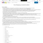 Free Shipping at Selected Sellers @ eBay
