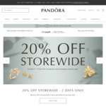 Pandora 20% off Store Wide - 2 Day Sale