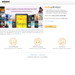 Free 2 Months of Kindle Unlimited @ Amazon AU