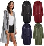 GK Women's Long-Sleeved Zipper Front Hooded Casual Long Coat US $13.40 (~AU $20) Delivered @ Grace Karin