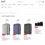 Swiss Equipe Locarno Suitcase from $60 (Was $260) Delivered @ Luggage Online