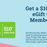 $10 Woolworths eGift Card with Entertainment Book Purchase