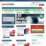 20% off Everything at Powerbulbs