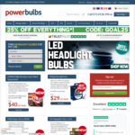 25% off Everything @ PowerBulbs