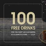 [VIC] 100 Free Drinks (13/7) & 10% off All Drinks @ The Alley LuJiaoXiang, Elizabeth Store