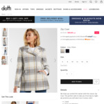 Selected Coats Reduced to $35 (RRP $100+) + Free Shipping @ Dotti