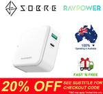 20% off Storewide - RAVPower 45W USB C PD Port Wall Charger $35.16 Delivered @ SOBRE eBay Store