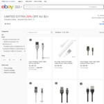 20% off Selected Lightning / USB Type C Charging Cables, from $3.99 Shipped @ Oz_Xessories via eBay