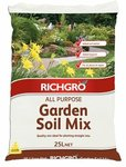 [WA] Richgro 25L All Purpose Garden Soil Mix (Was $3.95) $2.45 C&C /in-Store (No Delivery) @ Bunnings