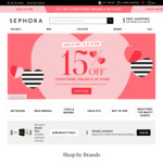 15% Off Everything Online and Instore (Excludes Sale Items) @ Sephora