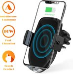 U-ROK Wireless Car Charger Mount Holder, Auto Clamping 7.5W /10W Qi Fast Charging $32.24 Delivered @ U-ROK Amazon AU