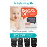 Baby Bunting Sale (25% off Britax, 50% off Infasecure) - Eg. Britax Maxi Guard Pro+ Car Sear $525