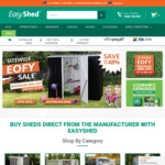 Minimum 30% off EOFY Sitewide Sale + Free Delivery to 170 Depots with Any Shed @ Easyshed.com.au