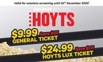 Hoyts Tickets - General Ticket $9.99 and LUX $24.95 @ Groupon