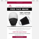 Free 100% Cotton Face Mask (Pickup) @ LookSmart Alterations