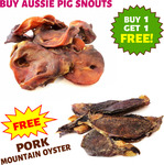 Dried Pig Snouts + Bonus Mountain Oyster Dog Treats - 500g $39.95, 1kg $59.95 + Delivery @ Slobber Chops Dog Treats