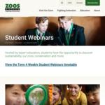 Free Zoos Victoria Term 4 Online Programs (F-12, National) @ Zoos Victoria