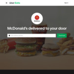 [NSW] Free Meal for 2 + Delivery (Min $2.99) @ McDonald's (Sydney Central Plaza) via Uber Eats