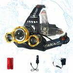 3 LED T6 Sensor Control Headlamp Gold/Silver w Charge Kit $12.99 + Delivery ($0 with Prime/$39+) @ AU SELECT Amazon AU