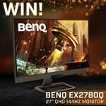 "Win a BenQ 27"" QHD 144Hz Freesync Monitor Worth $749 from PC Case Gear"