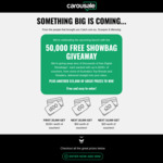 Win 1 of 50,000 Digital Voucher Showbags from Carousale
