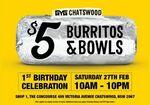 [NSW] $5 Burritos & Bowls (27/02, 10am-10pm) @ Guzman Y Gomez (Chatswood)
