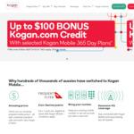 Buy Kogan Mobile 365-Day Flex Plan, Get Kogan Credit: Small ($160) Get $30, Med ($215) $50, Large ($265) $65, XLarge ($355) $100