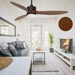 """Ovlaim 52"""" DC Motor Ceiling Fan Light (Real Wood Blades) $223.95 Delivered @ Ovlaim Amazon AU"""