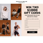 Win Two $1,000 Gift Cards from Rockwear