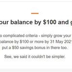 Increase Your ING Savings Maximiser Balance by $100 and Get $50 @ ING