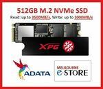 [Afterpay] ADATA XPG SX8200 Pro 512GB M.2 NVMe SSD with Heatsink $92.65 Delivered @ Melbourne-eStore eBay