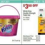 White King Double Strength Toilet Gel 4x 700ml $8.49, Vanish Napisan Gold Pro 3kg $14.19 @ Costco (Membership Required)