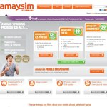 Amaysim FREE $20 Credit When You Order Online