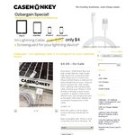 CASEMONKEY GRAND OPENING -1m Lightning Cable + Screenguard for Your Device Just $4 FREE SHIPPING