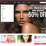 50% off Your Entire Order at Prestige Cosmetics