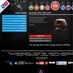 FREE Belgian Choc Lava Cake with Any Pizza Purchase Domino's (CODE ENDS TOMORROW)