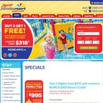 Paradise Resort, Gold Coast. 3 Nights for $318 Plus Waterpark & Kids Club Entry