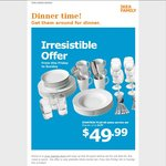 IKEA Family: 60pc Dining Set for $49.99 (NSW, VIC, QLD) Save $79