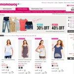 30% off Any 3, 40% off Any 4 Maternity Shorts & Jeans, Maternity & Nursing Dresses & Tops!