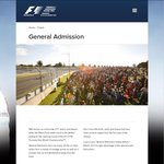 Australian F1 Grand Prix - FREE General Admission Tickets for Thursday Entry (March 13) !