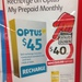 $40 for a $45 Optus Prepaid Recharge at Coles & Coles Express
