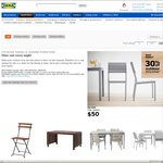 30% off Outdoor Dining Settings at IKEA VIC, QLD, NSW- IKEA Family Members Only