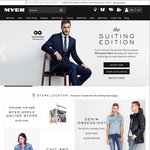 Myer 25% off Mens Business Attire Online for Purchases over $100