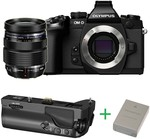 Olympus E-M1 12-40 $1729 Less $100 OzBargain Coupon + Bonus Grip & Battery - CameraPro