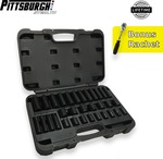 Pittsburgh Stealth 32Pc Deep & Short Socket Set (Bonus Rachet) $59 + Free Shipping @ SuperGrip Tools