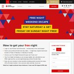 Rydges, QT, Atura, Art Series Hotels - Free Night Weekend Escape - Stay Saturday and Get Friday or Sunday Free