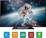 Soniq Refurb 65 Inch Ultra HD LED LCD 3D Smart (Android) TV $894 + Postage @ Soniq